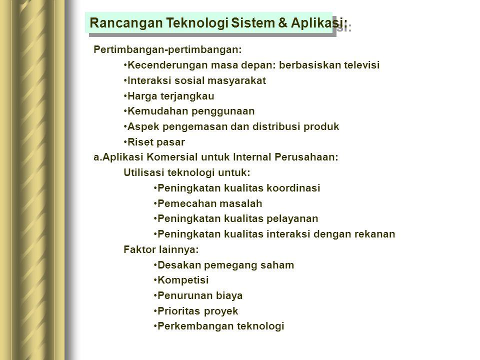 Rancangan Teknologi Sistem & Aplikasi: