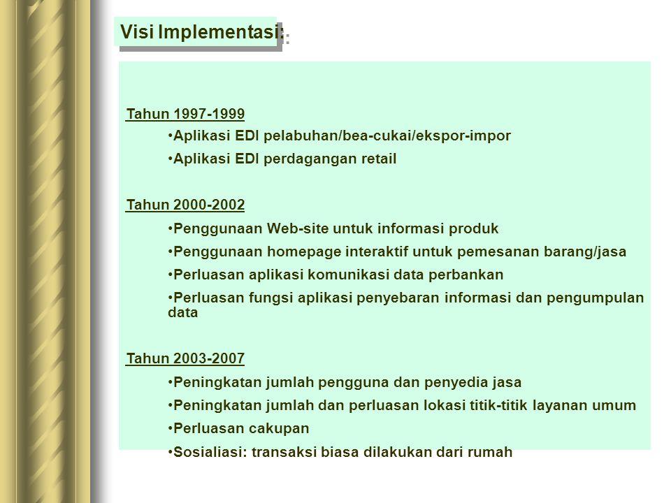 Visi Implementasi: Tahun 1997-1999