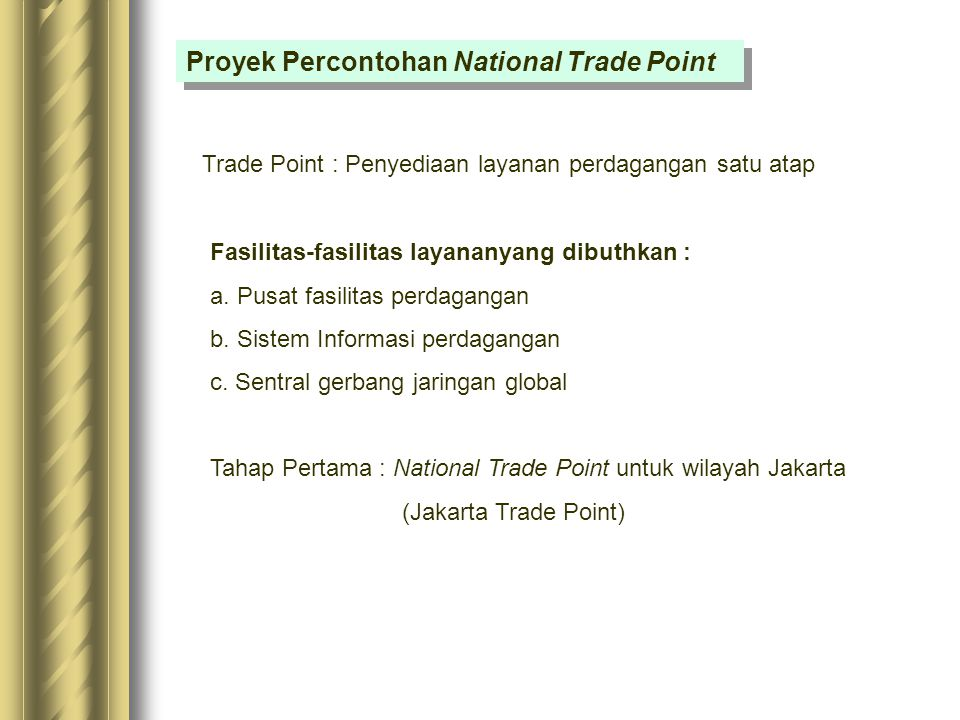 Proyek Percontohan National Trade Point
