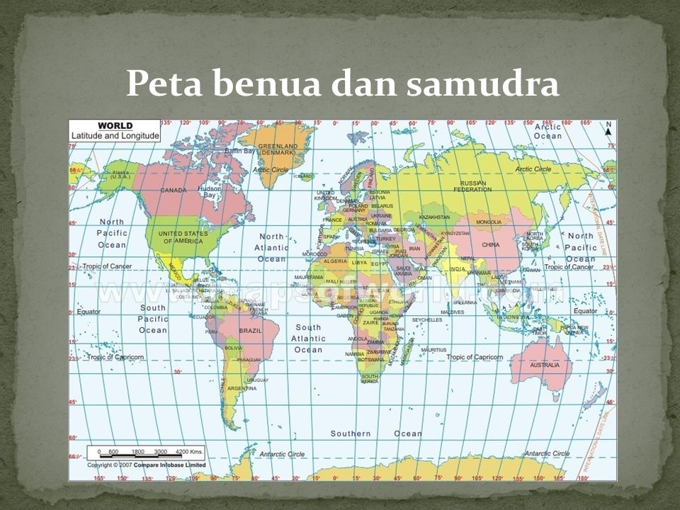 Peta benua dan samudra