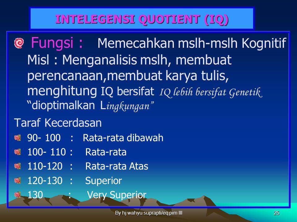 INTELEGENSI QUOTIENT (IQ)