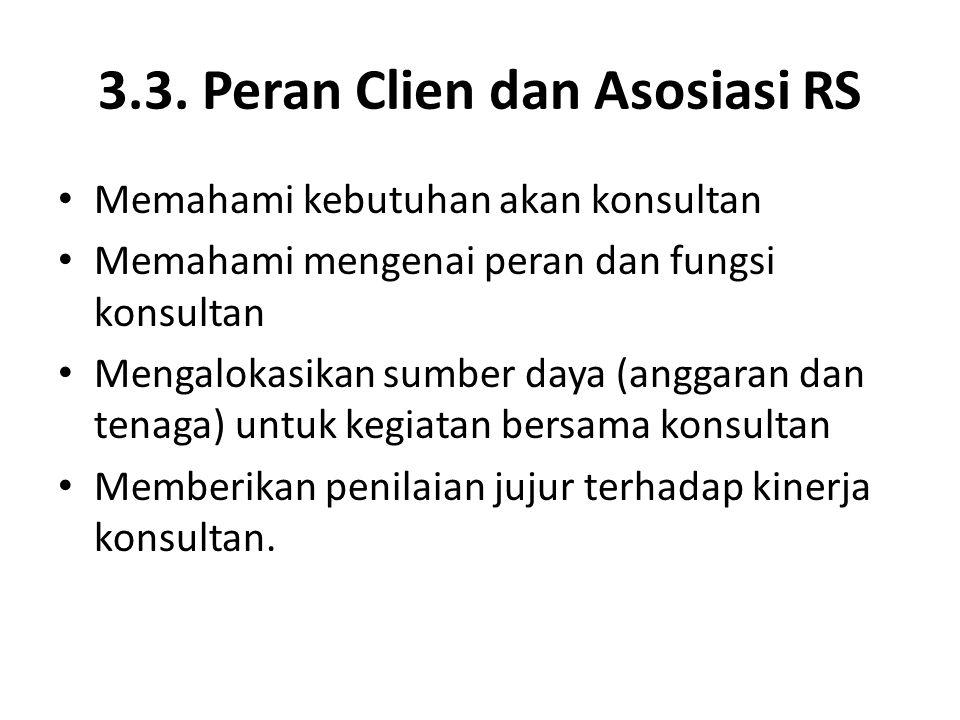 3.3. Peran Clien dan Asosiasi RS