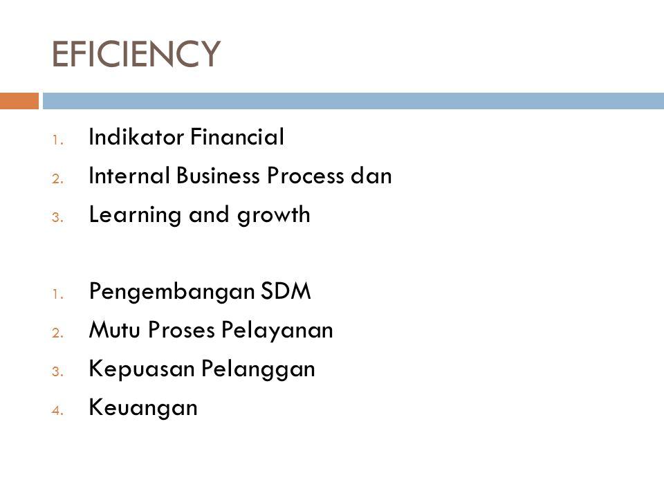 EFICIENCY Indikator Financial Internal Business Process dan