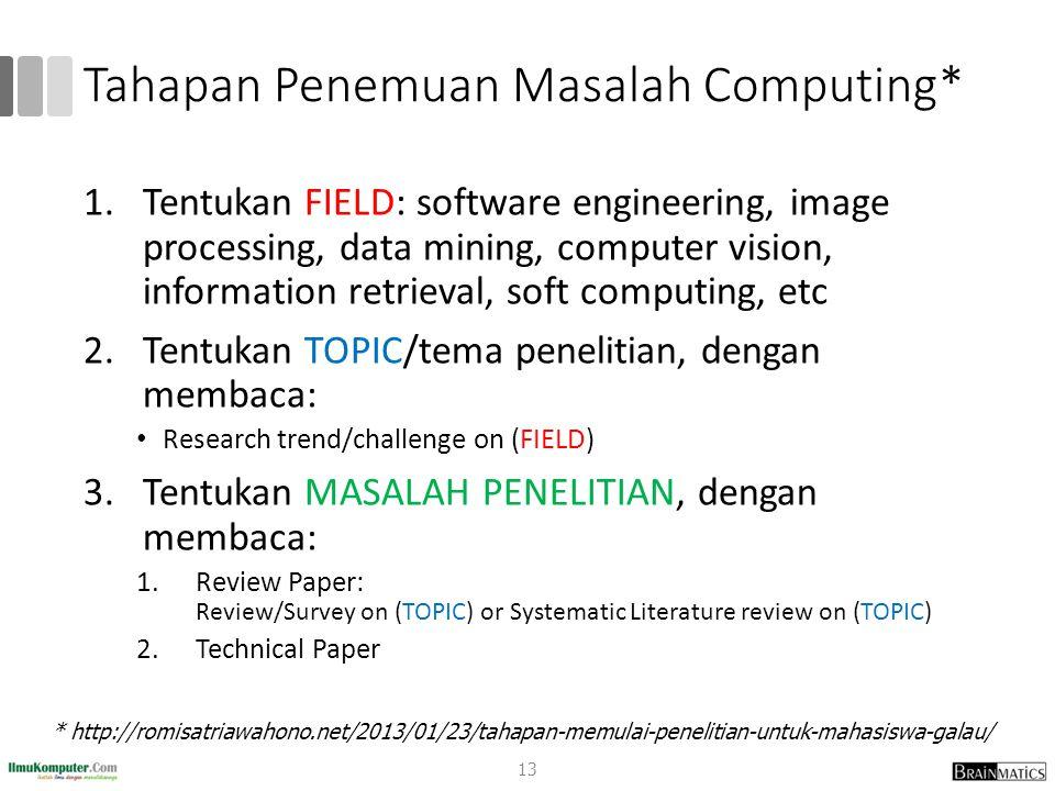 Tahapan Penemuan Masalah Computing*