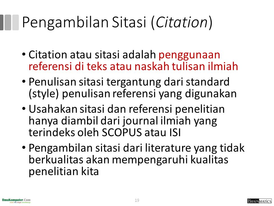 Pengambilan Sitasi (Citation)