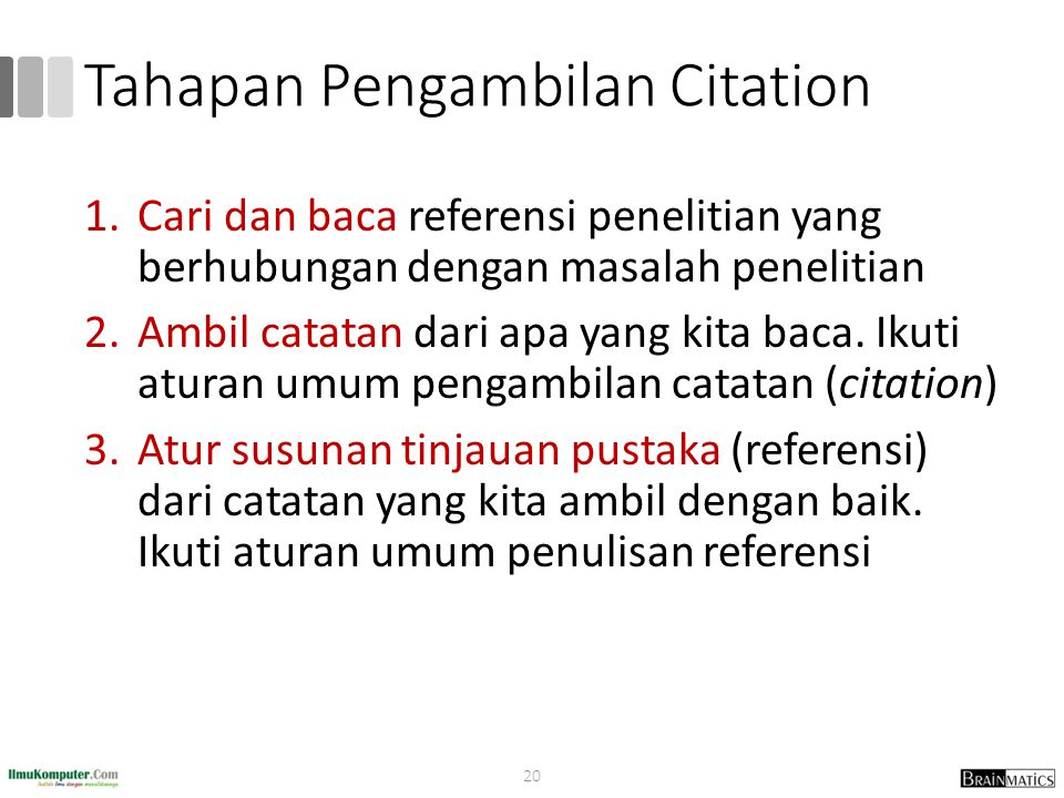 Tahapan Pengambilan Citation