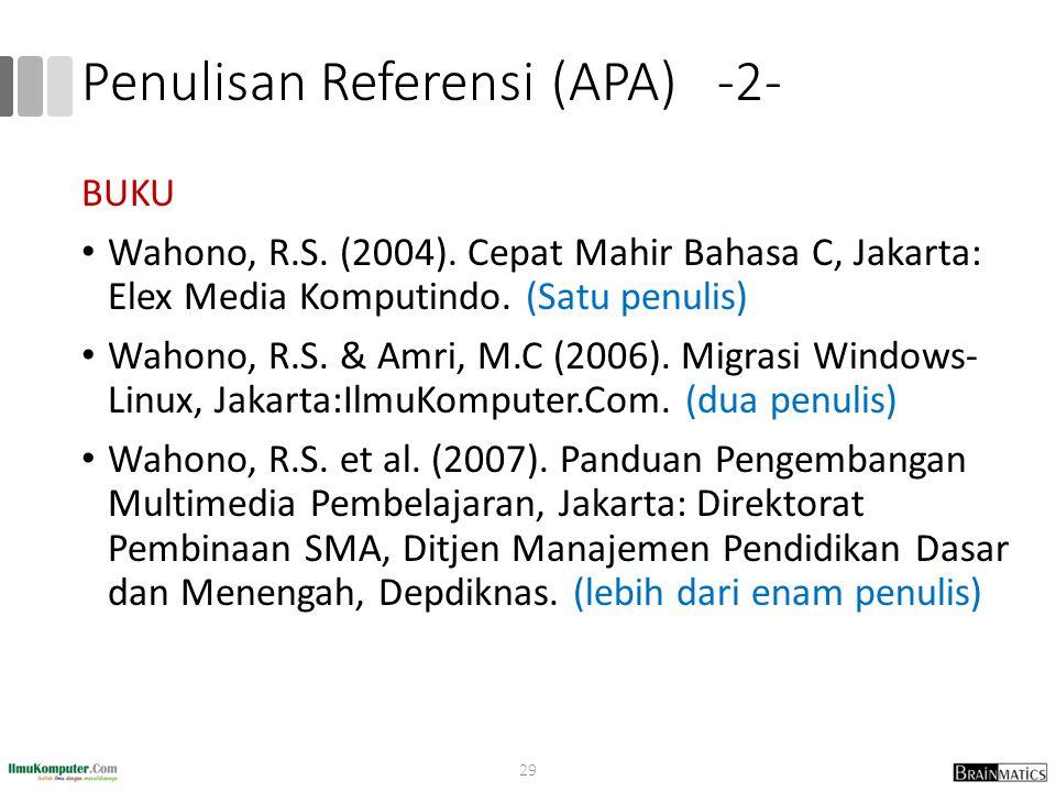 Penulisan Referensi (APA) -2-