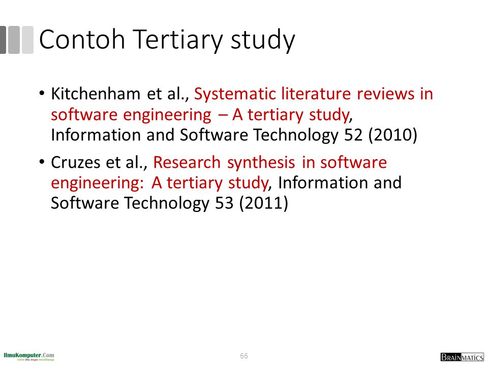 Contoh Tertiary study