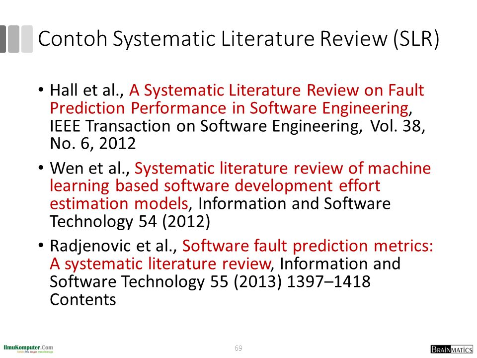 Contoh Systematic Literature Review (SLR)