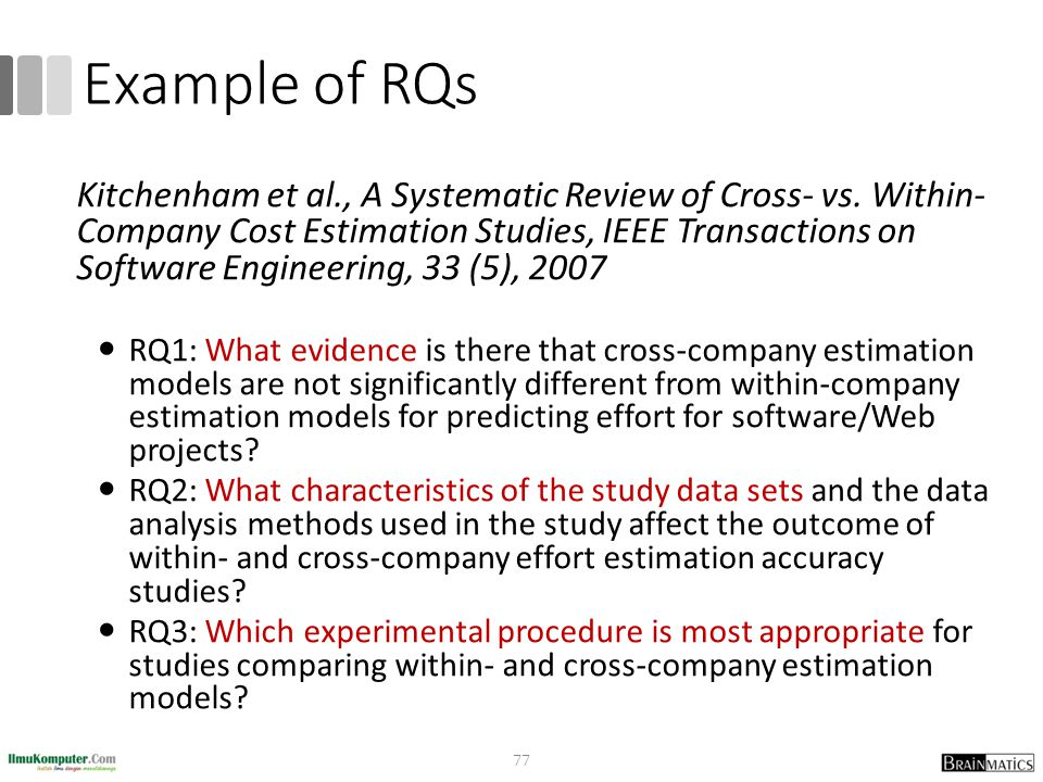 Example of RQs