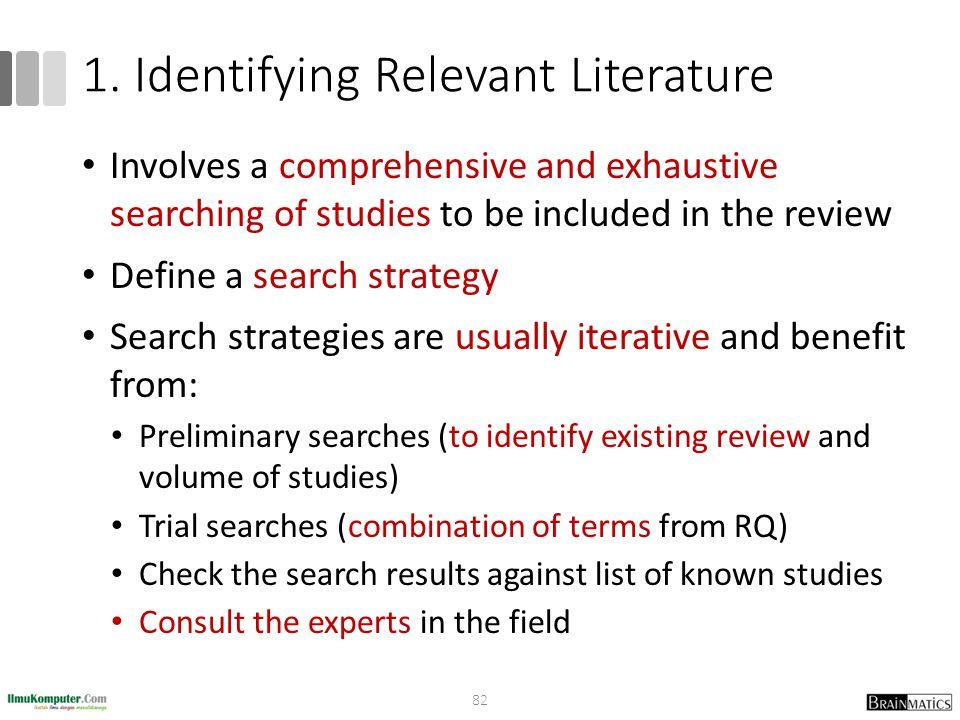 1. Identifying Relevant Literature