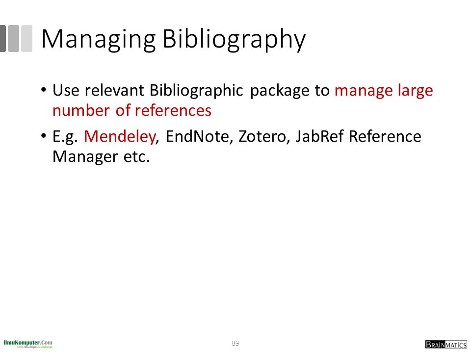 Managing Bibliography