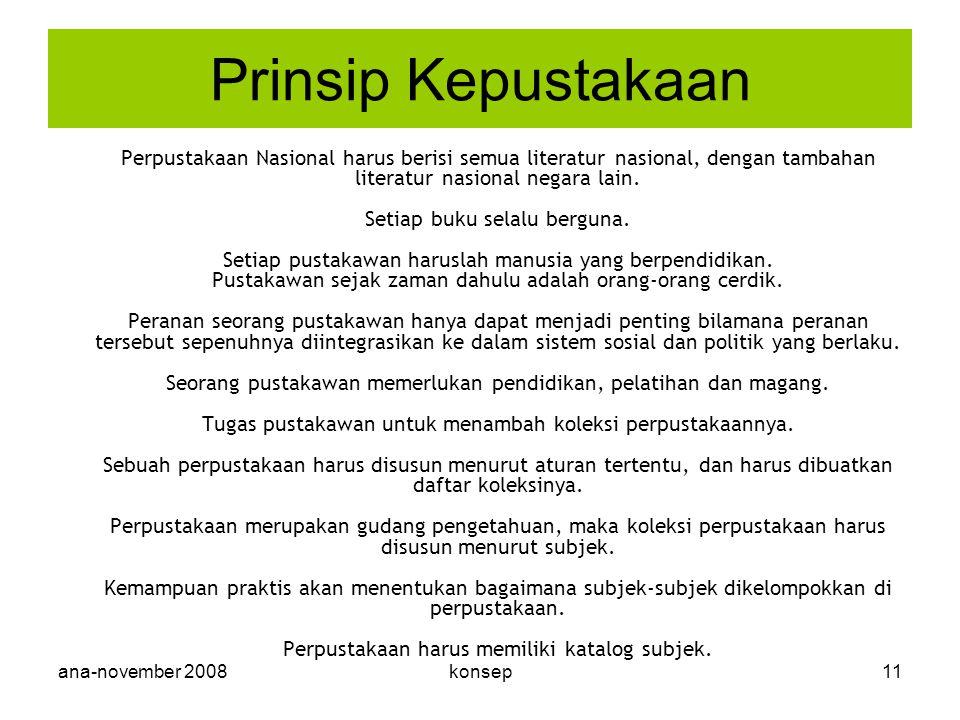 Prinsip Kepustakaan ana-november 2008 konsep