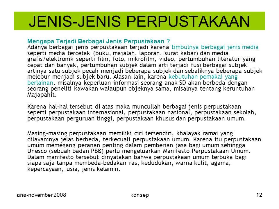 JENIS-JENIS PERPUSTAKAAN