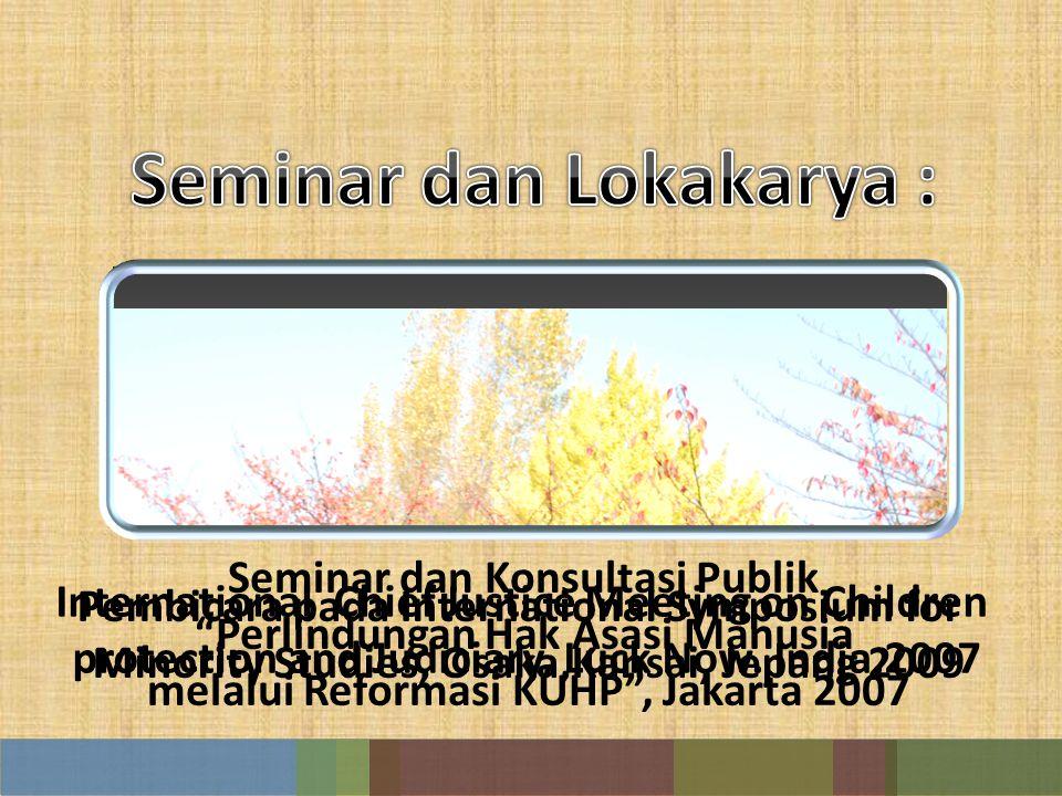 Seminar dan Lokakarya :
