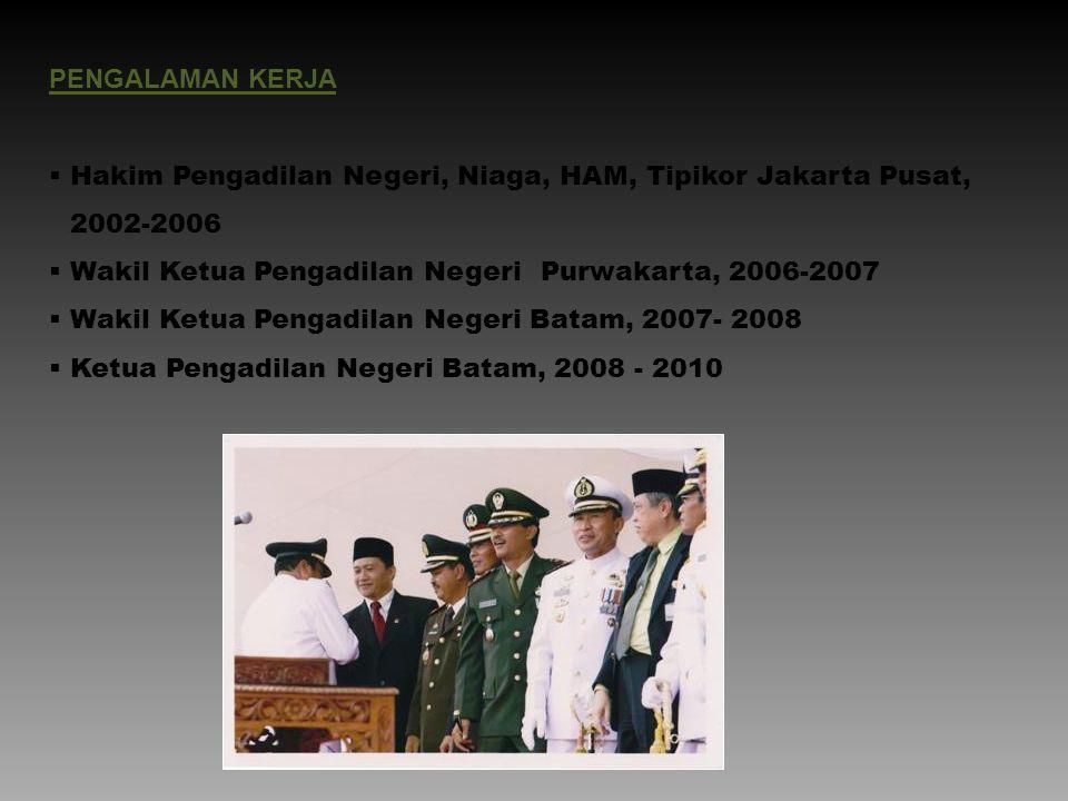 Hakim Pengadilan Negeri, Niaga, HAM, Tipikor Jakarta Pusat, 2002-2006