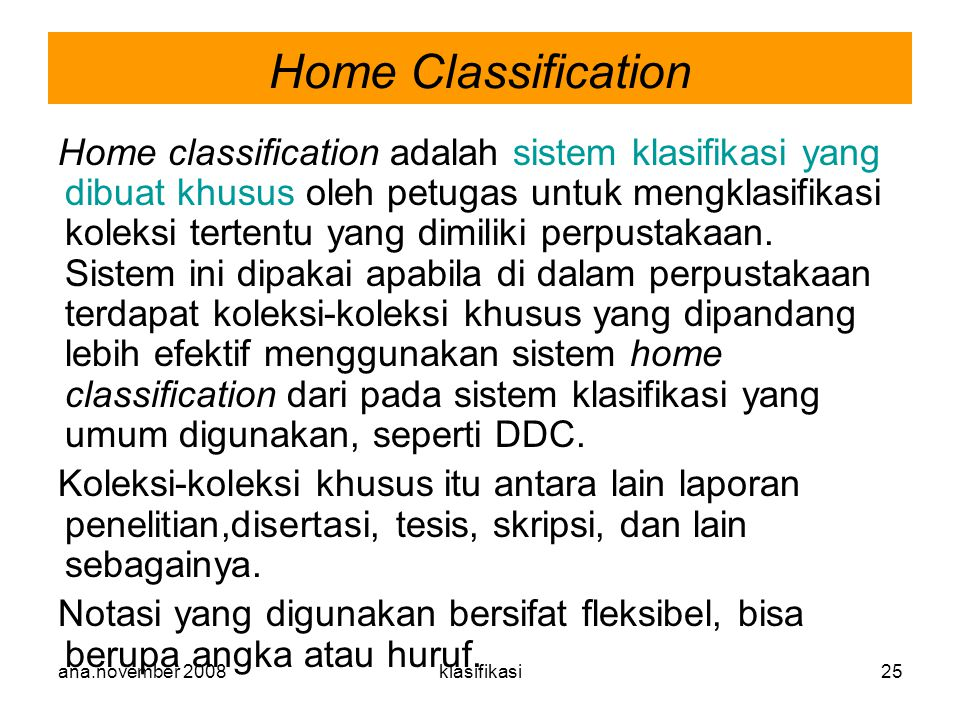 Home Classification