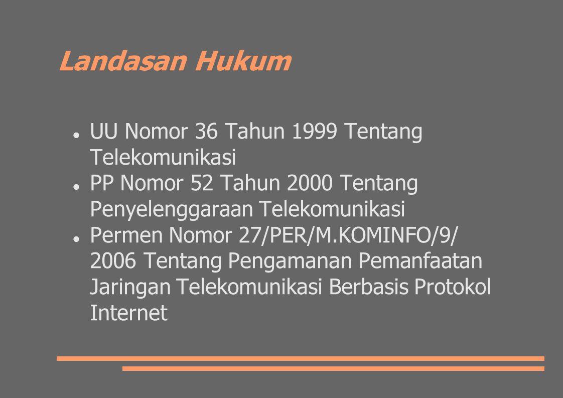 Landasan Hukum UU Nomor 36 Tahun 1999 Tentang Telekomunikasi