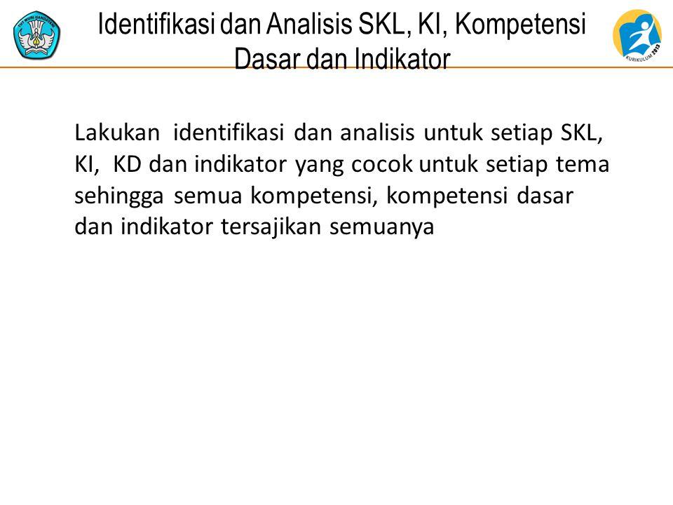 Identifikasi dan Analisis SKL, KI, Kompetensi Dasar dan Indikator