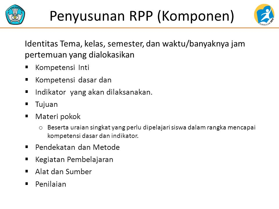 Penyusunan RPP (Komponen)