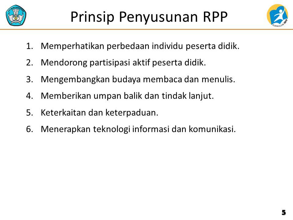 Prinsip Penyusunan RPP