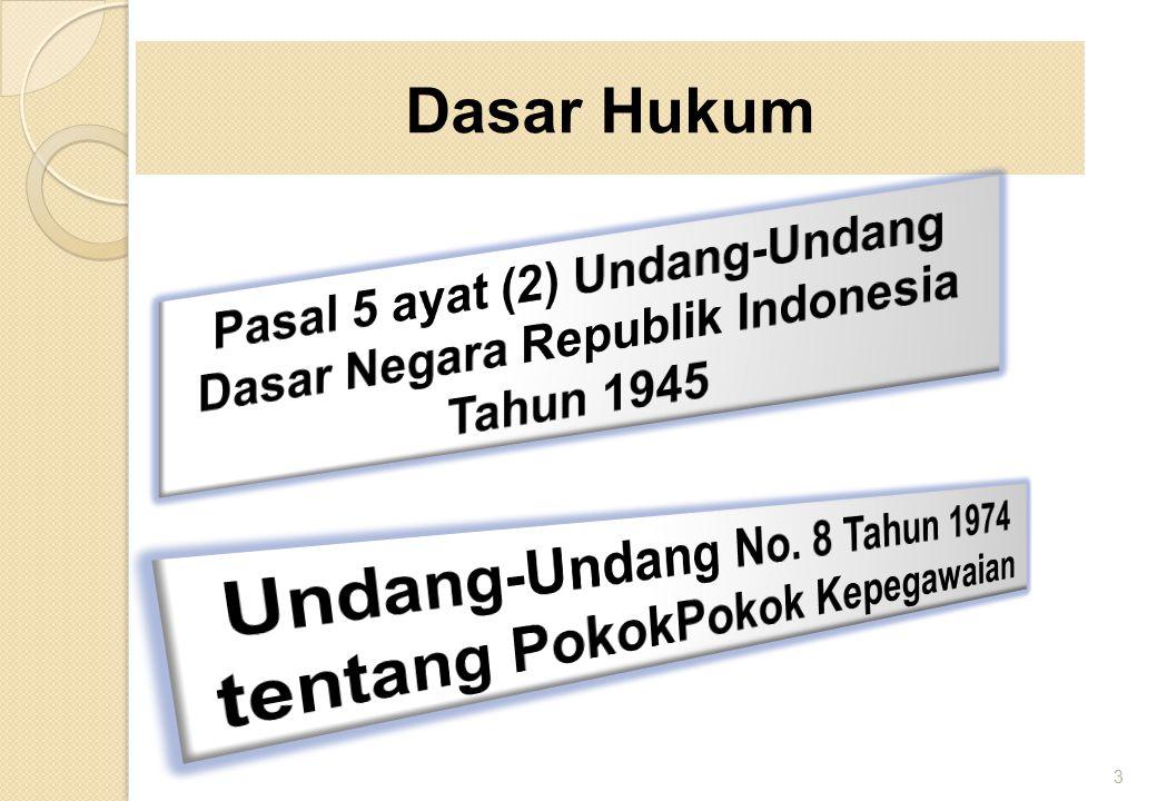 Undang-Undang No. 8 Tahun 1974 tentang PokokPokok Kepegawaian