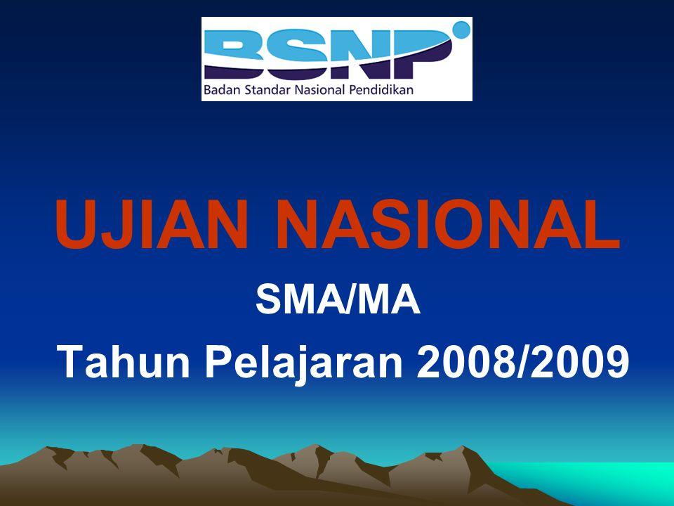 UJIAN NASIONAL SMA/MA Tahun Pelajaran 2008/2009