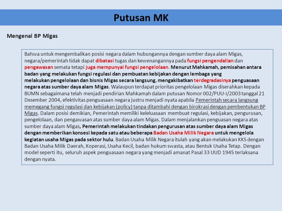 Putusan MK Mengenai BP Migas