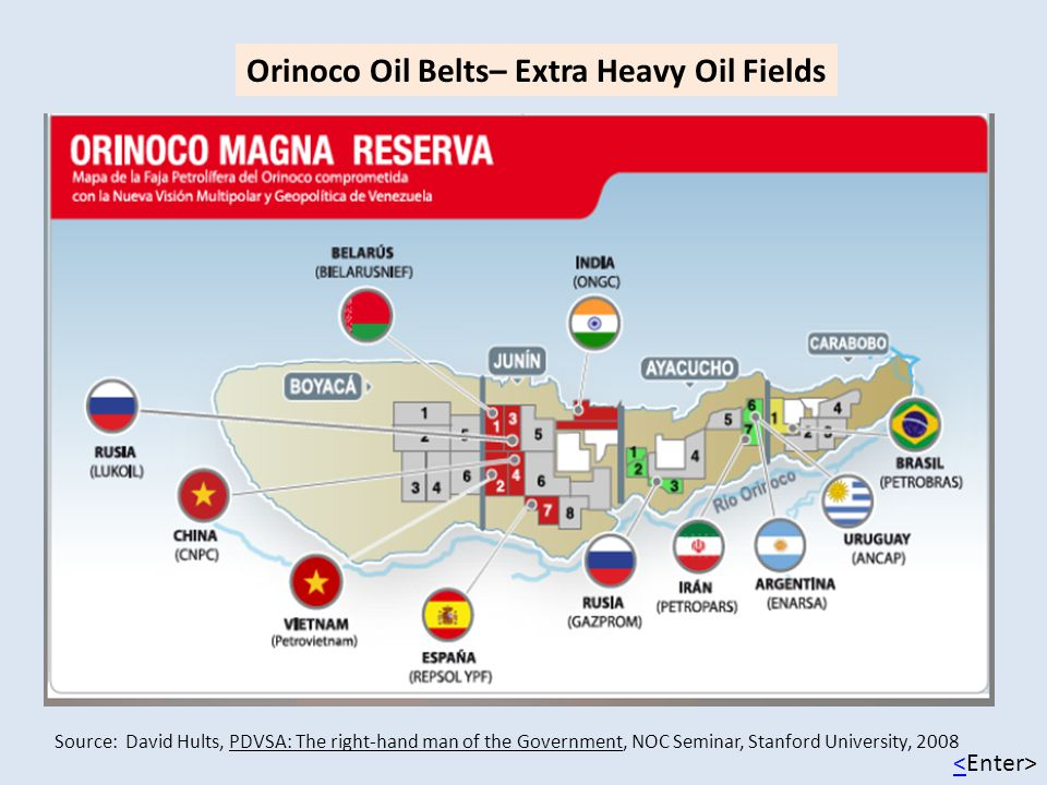 Orinoco Oil Belts– Extra Heavy Oil Fields