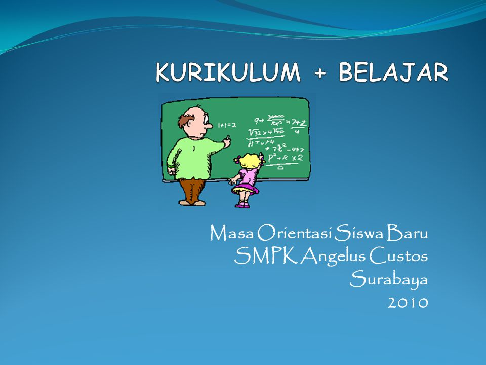 Masa Orientasi Siswa Baru SMPK Angelus Custos Surabaya 2010