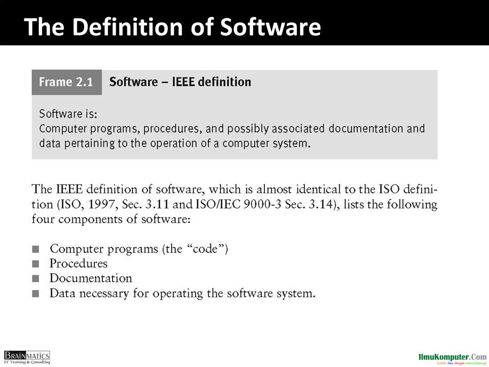 The Definition of Software