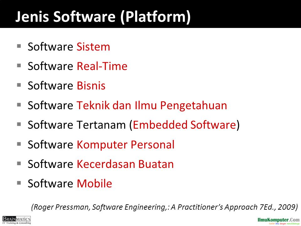 Jenis Software (Platform)