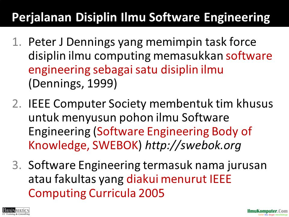 Perjalanan Disiplin Ilmu Software Engineering