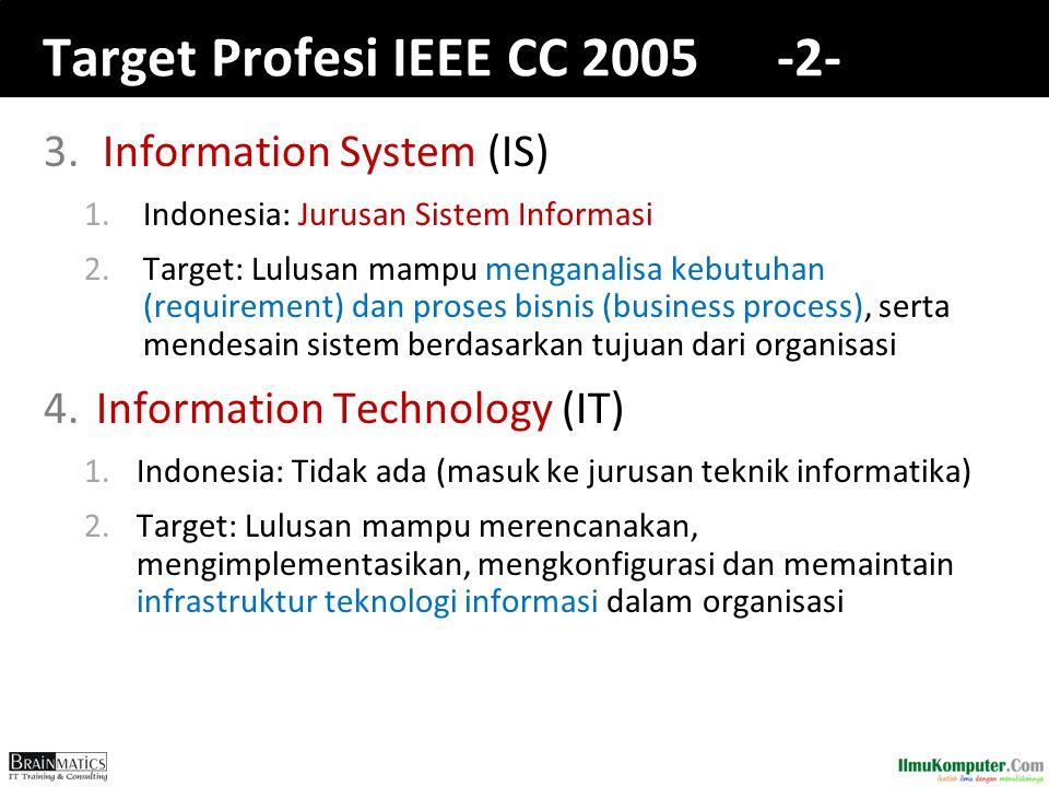 Target Profesi IEEE CC 2005 -2-