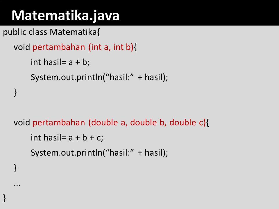 romi@romisatriawahono.net Object-Oriented Programming. Matematika.java.