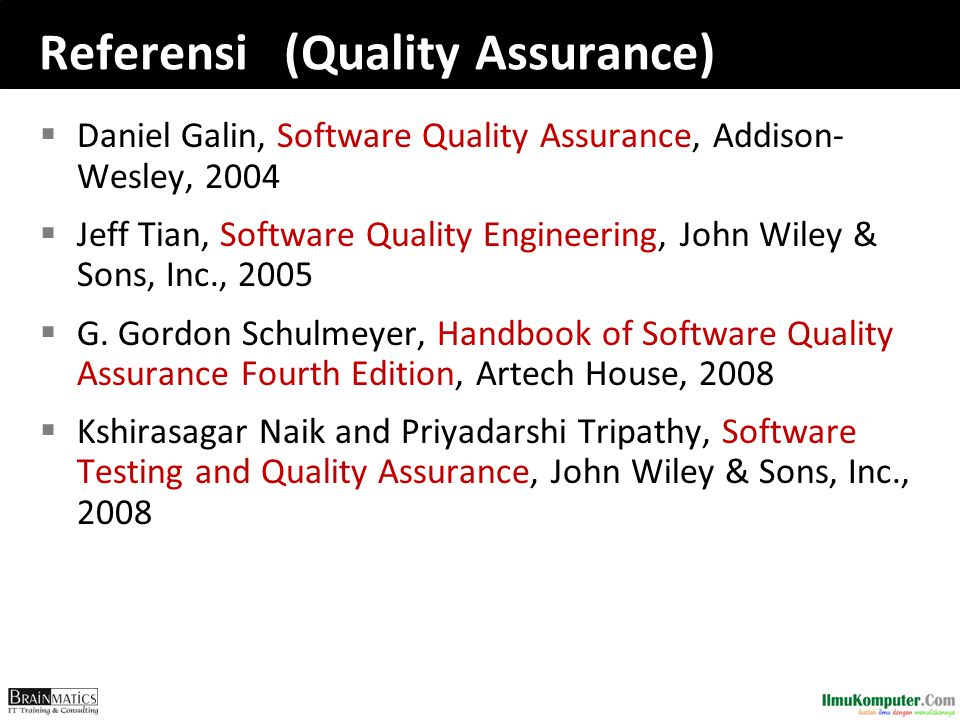 Referensi (Quality Assurance)