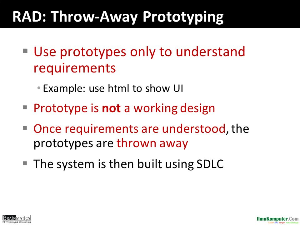 RAD: Throw-Away Prototyping