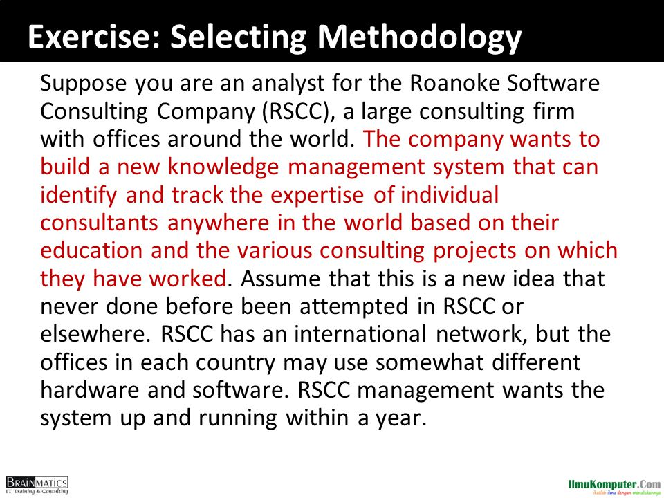Exercise: Selecting Methodology