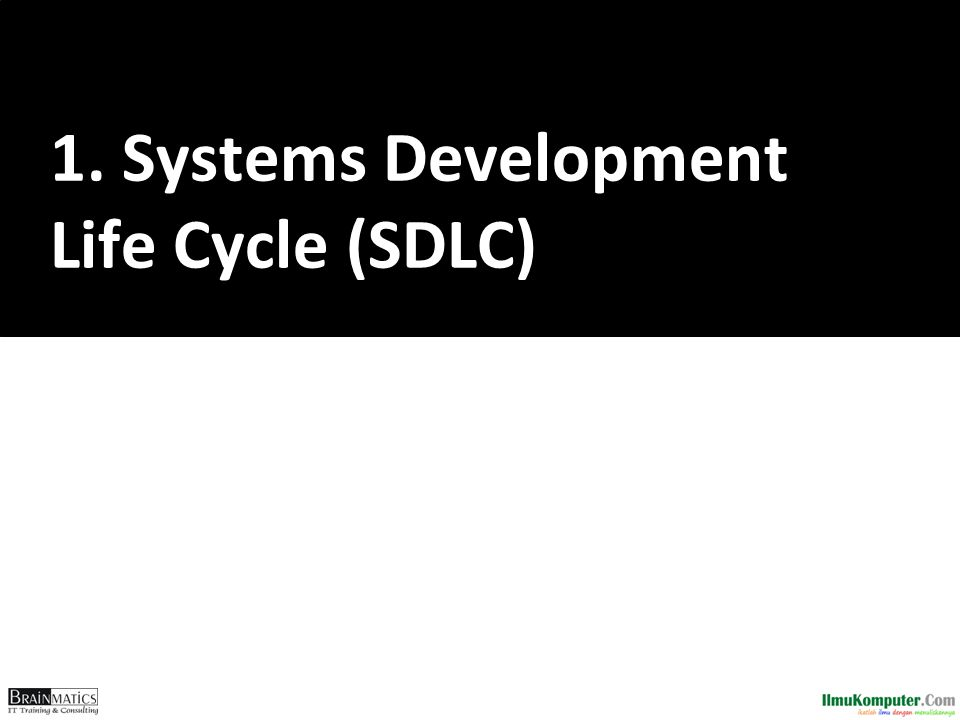 1. Systems Development Life Cycle (SDLC)