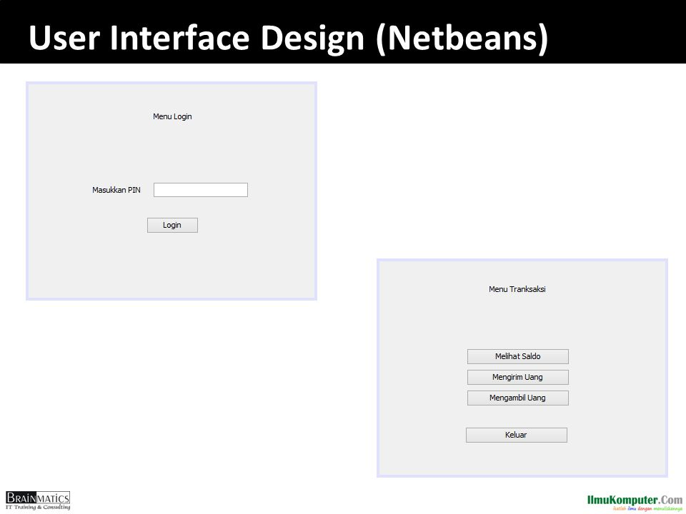 User Interface Design (Netbeans)