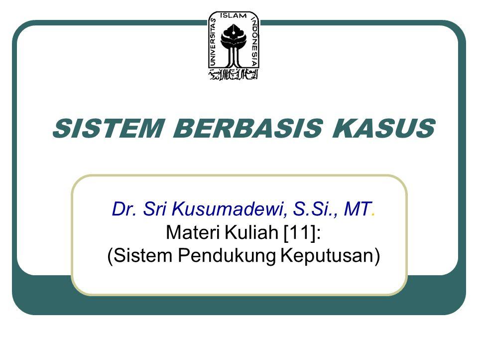 SISTEM BERBASIS KASUS Dr. Sri Kusumadewi, S.Si., MT.