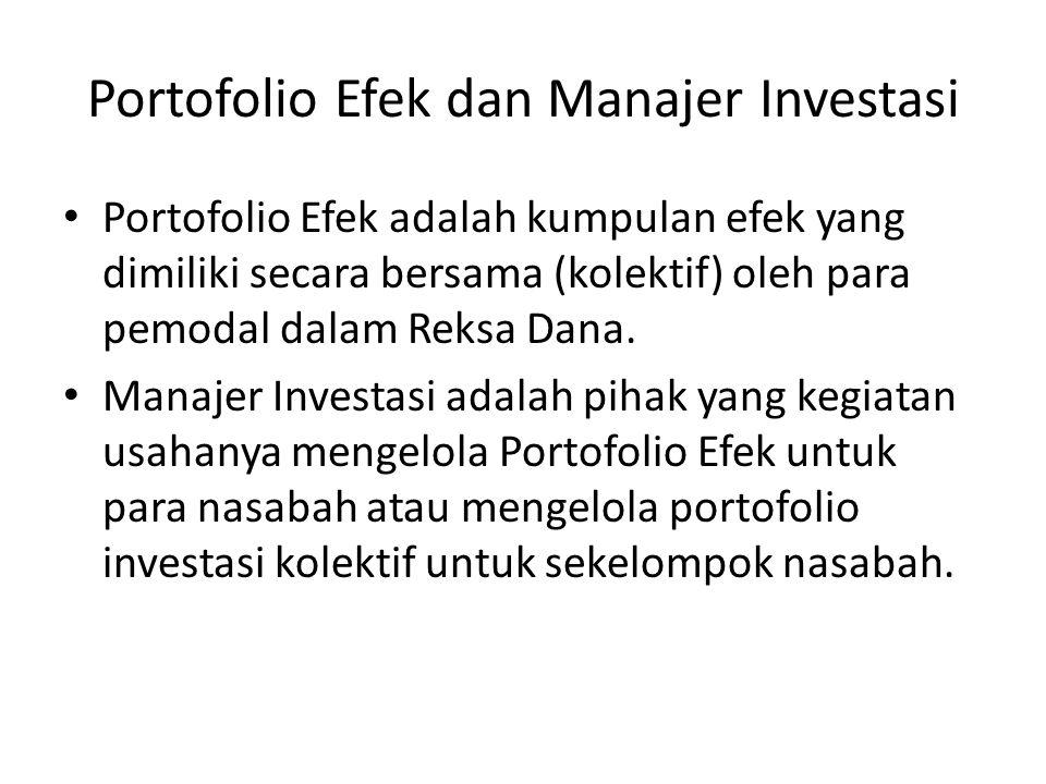 Portofolio Efek dan Manajer Investasi