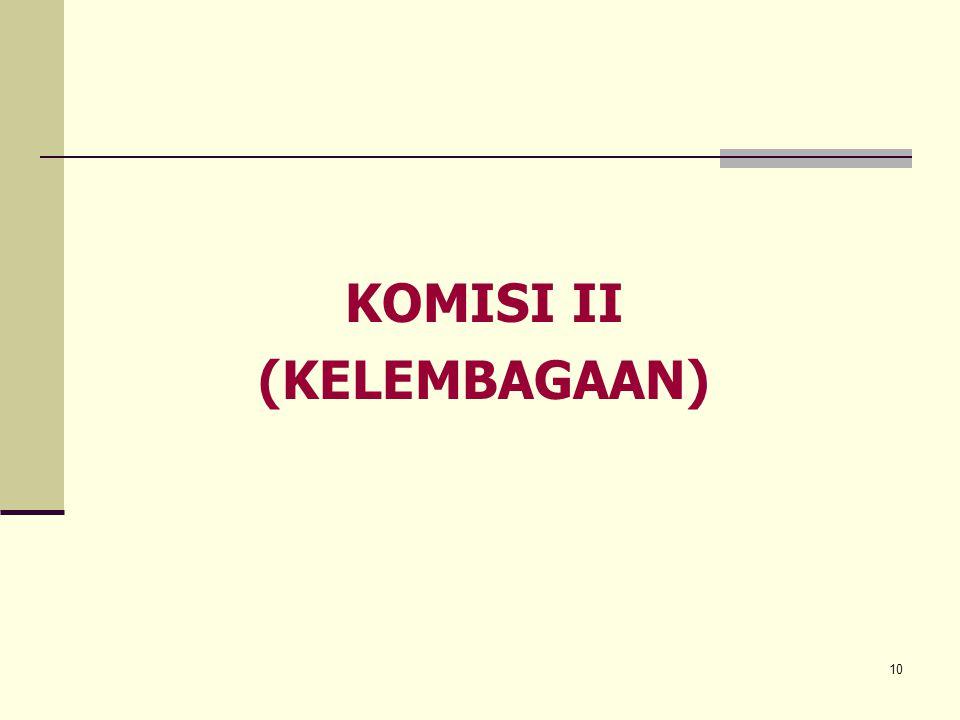 KOMISI II (KELEMBAGAAN)