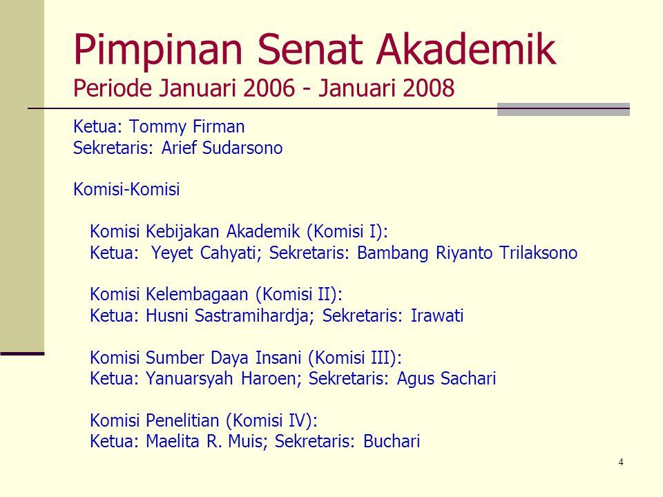 Pimpinan Senat Akademik Periode Januari 2006 - Januari 2008