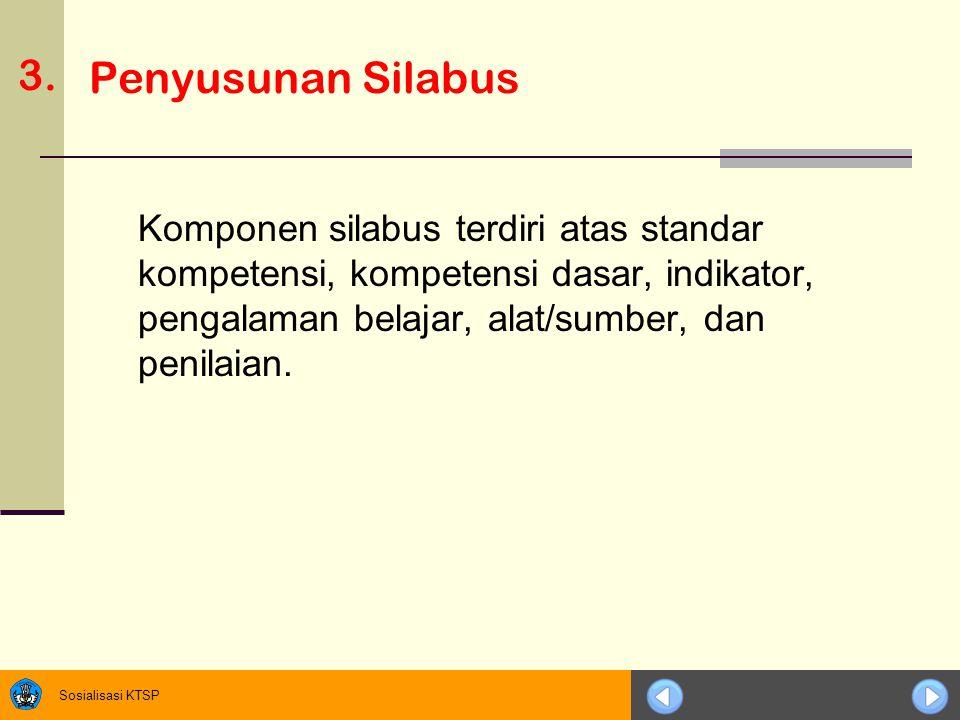 3. Penyusunan Silabus.