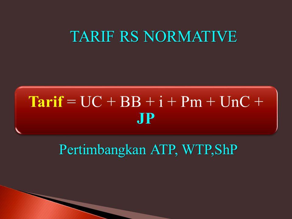 Tarif = UC + BB + i + Pm + UnC + JP