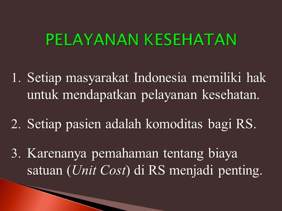 PELAYANAN KESEHATAN Setiap masyarakat Indonesia memiliki hak untuk mendapatkan pelayanan kesehatan.