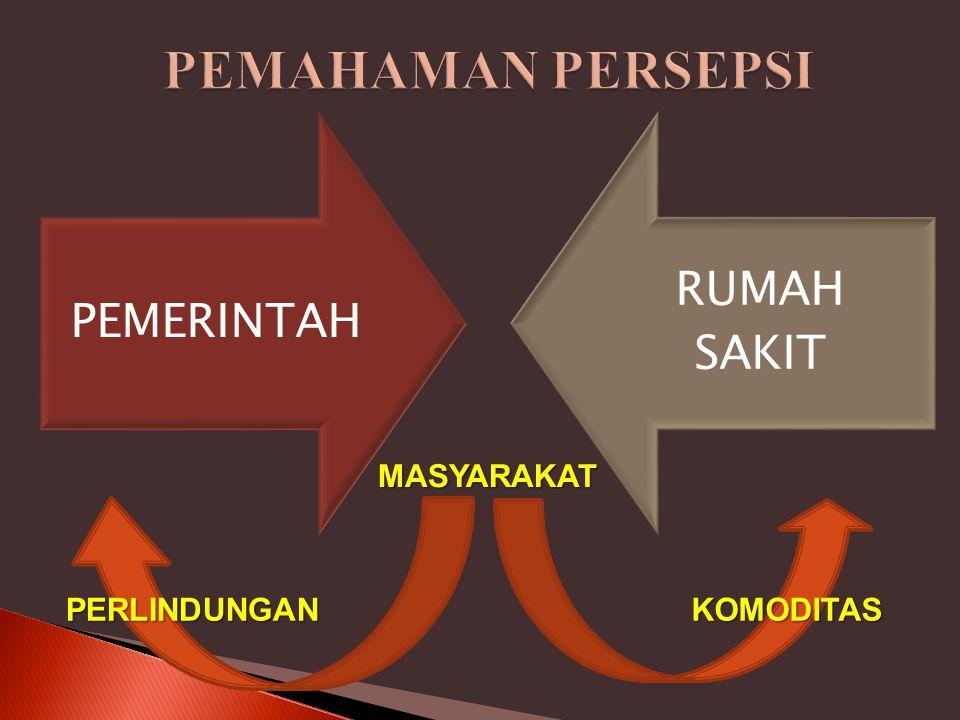 PEMAHAMAN PERSEPSI MASYARAKAT PERLINDUNGAN KOMODITAS PEMERINTAH