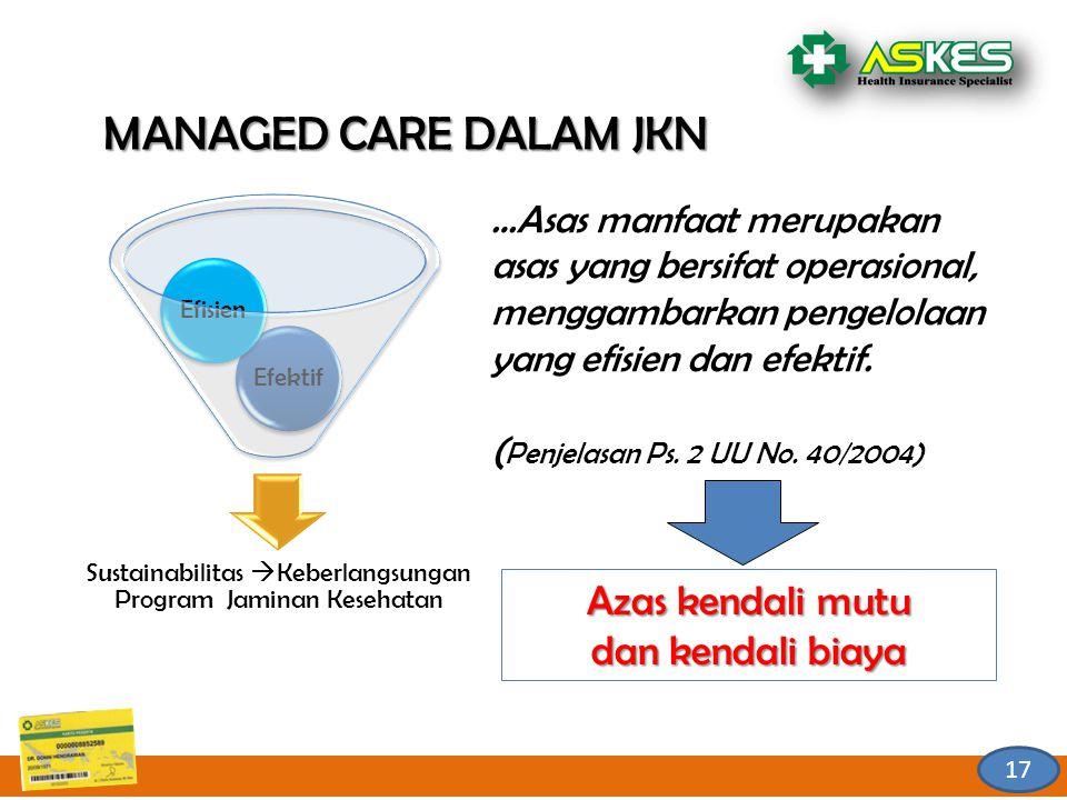 Sustainabilitas Keberlangsungan Program Jaminan Kesehatan