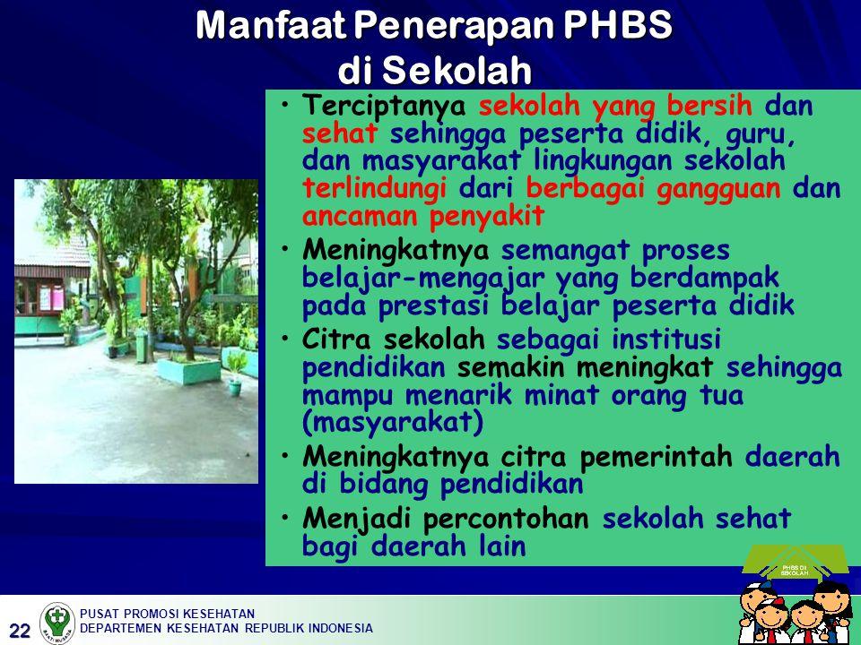 Manfaat Penerapan PHBS di Sekolah